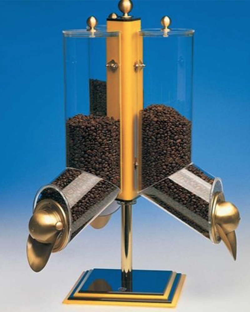 Rotating System Plexi Coffee Dragee Nuts Dispensers