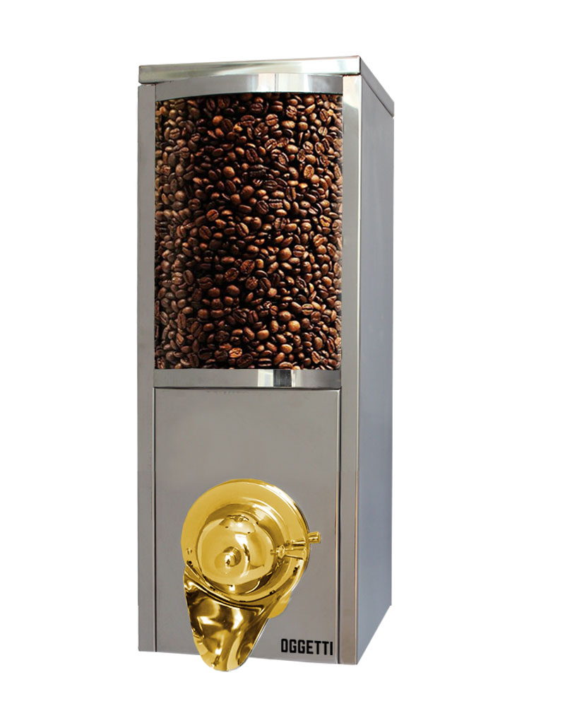 Curved Glass Shovelless Stainless Coffee Dragee Nuts Dispensers 2