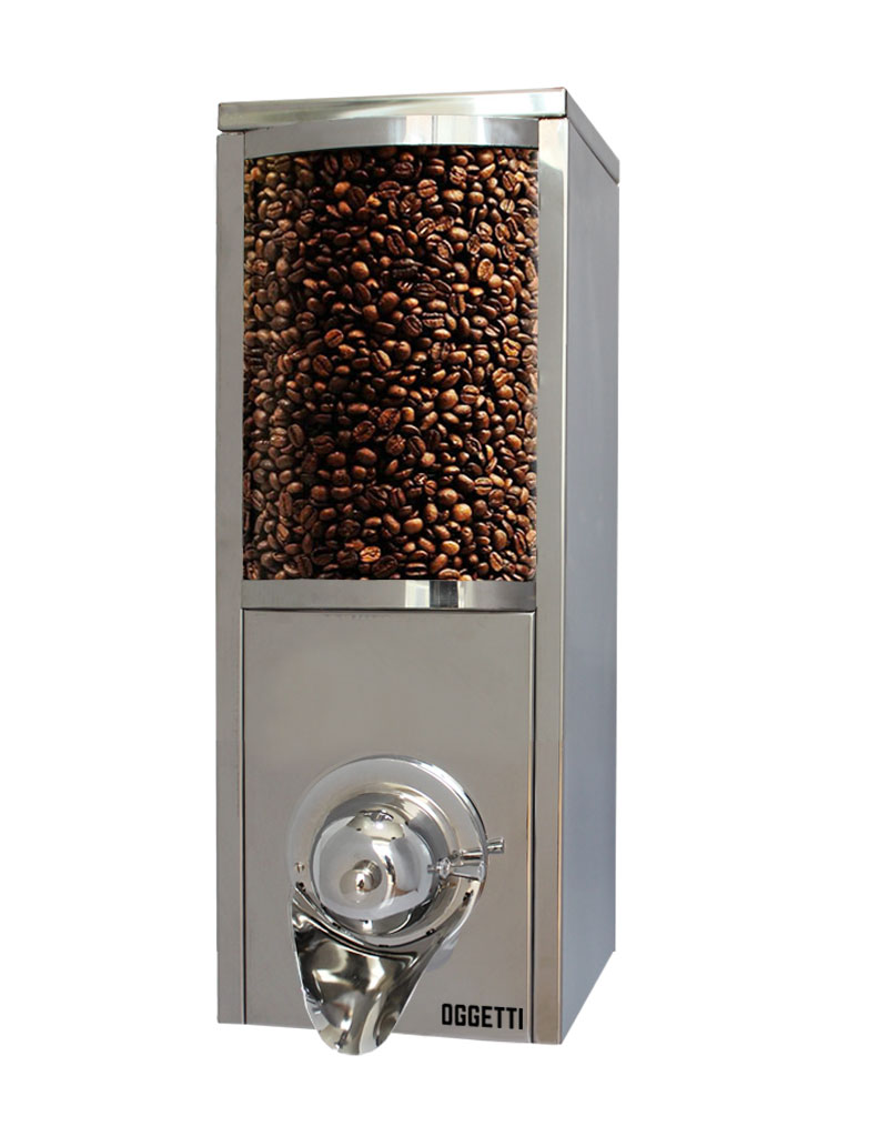 Curved Glass Shovelless Stainless Coffee Dragee Nuts Dispensers 1