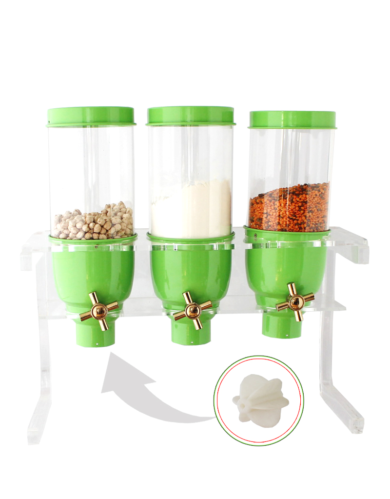 Countertop Cylindrical Plexi Coffee Dragee Nuts Dispensers
