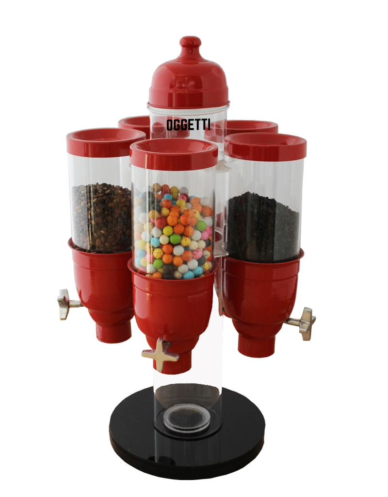 Six Set Countertop Rotary System Plexi  Dispensers